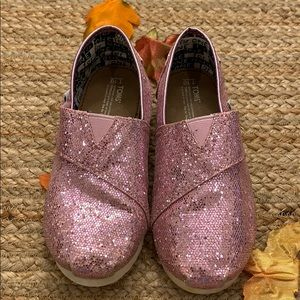 Toms - Toddler Girl Glitter Slip-ons